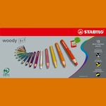 Stabilo Woody Pencil Set of 18 with Sharpener
