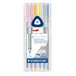 Staedtler Triplus Fineliner Pens Set of 6 - Pastel Colors