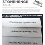 "Try-It! Stonehenge Aqua Watercolor Paper Pack of 3 5""x7"" Sheets"