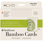 """Strathmore Bamboo Blank Greeting Cards & Envelopes 10-Pack 5x7"""" - Natural (Laid finish)"""