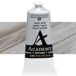 Grumbacher Academy Acrylic 90 ml Tube - Thalo Silver