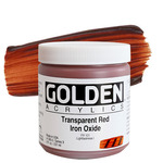 GOLDEN Heavy Body Acrylic 8 oz Jar - Transparent Red Iron Oxide