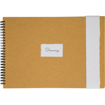 "GarzaPapel Handmade Drawing Paper Notebook Soft Cover 11.8x15.75"" - 20 sheets - Ivory Paper"