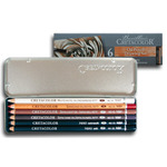 Cretacolor Oil Pencil Tin Box Set 6pk - Assorted Colors