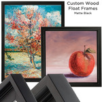 Custom Wood Float Frames