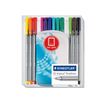 Staedler Tri-Plus Fineline Pens Set of 12 - Assorted Colors