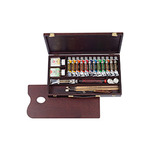 Rembrandt Oil Color 22-Piece Professional Wood Box Set 40 ml tubes