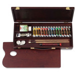 Rembrandt Oil Color 22-Piece Traditional Wood Box Set 15 ml tubes