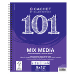 Cachet 101 Mixed Media Pad (30 Sheets Wirebound/Top Bound Landscape)