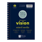 Strathmore Vision Mixed Media 5.5x8.5 In Pad Wire Bound - Medium Surface - 70 Sheets
