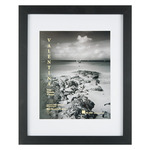 "Valentina Frames Black Satin 1"" Frame with Glass and Mat 16x20"" (w/ 12x16"" Mat)"