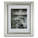 """Valentina Frames Silver 2"""" Frame with Glass and Mat 16x20"""" (w/ 12x16"""" Mat)"""
