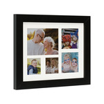 "Valentina Photo Collage Frame 1"" Depth 8X10"" (5 openings) - Black"