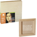 "Ampersand Value Series Artist Panel 3-Pack Umprimed Basswood - 7/8"" Cradle 5x7"""