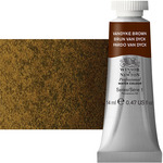 Winsor & Newton Professional Watercolor 14 ml Paint Tube - Van Dyke Brown