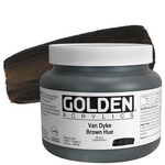 GOLDEN Heavy Body Acrylic 32 oz Jar - Van Dyke Brown