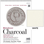 "Strathmore 500 Series Charcoal Paper 24 Sheet Pad 12x18"" - White"