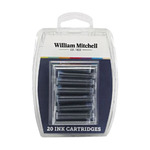 William Mitchell 20 Euro-Sized Black Ink Cartridges