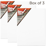 "Yes! All Media Cotton Canvas 1.5"" Deep Box of Three 12x12"""