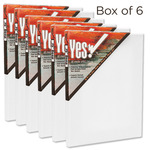 "Yes! All Media Cotton Canvas 3/4"" Deep Box of Six 8x10"""