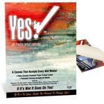 "Yes! All Media Cotton Canvas Pad 16x20"" 10 Sheets"