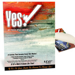 """Yes! All Media Cotton Canvas Pad 8.5x11"""" 10 Sheets"""