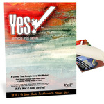 "Yes! All Media Cotton Canvas Pad 9x12"" 10 Sheets"