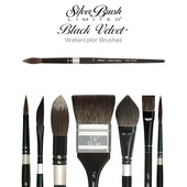 Silver Brush Black...