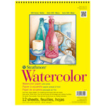 "Strathmore 300 Series 140lb Watercolor Pad 9x12"" Wire bound 12 Sheets"