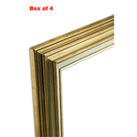 Accent Wood Frame Box of 4 Gold Wash 12X16