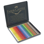 Faber-Castell Polychromos Pencil Tin Set of 24 - Assorted Colors