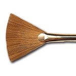 Renaissance Red Sable Brush Fan 2