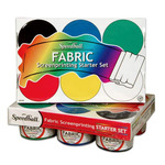Speedball Fabric Screen Printing Starter Set of 6 - Basic Colors