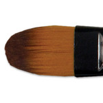 Ebony Splendor Brush Long Handle Filbert 0