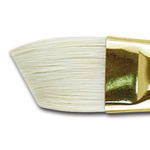 Jewel Bristle Brush Angular Flat 1""