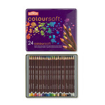 Derwent Coloursoft Tin Set of 24 - Assorted Colors