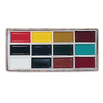 "Yasutomo Japanese Watercolor Set of 12 1¾×1"" Pans"