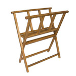 Creative Mark Folding Wood Print Rack - Walnut Stain Finish