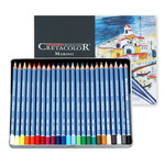 Cretacolor Marino Lightfast Watercolor Pencils Set of 24 - Assorted Colors