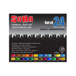 SoHo Urban Artist Watercolor Paints Basic Set of 24 - Assorted Colors