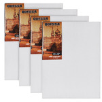 "Odessa Professional Russian-Style Stretched Linen Canvas Large Extra Bold - Oil Primed 12x16"" Box of 4"