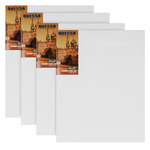"""Odessa Professional Russian-Style Stretched Linen Canvas Medium Extra Fine - Acrylic Primed 9x12"""" Box of 4"""