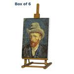 Box 6 Van Gogh Easel Walnut Finish