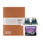 Concept Marker Color BONUS Set of 24 Basic Colors with Union Square Heavyweight Drawing Pad 11x14""