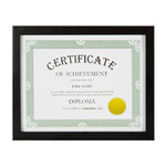 "Model T Certificate/Document Frame 8.5x11"" - Black"