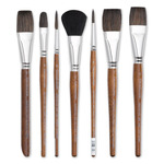 Grumbacher Assorted Hair Watercolor Brushes