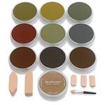 PanPastel Soft Pastels Set of 10 - Extra Dark Warm Shades