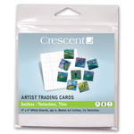 """Crescent Artist Trading Cards Inchies / Twinchies 64-Pack Thin 4×4"""" - White"""