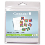 """Crescent Artist Trading Cards Inchies / Twinchies 64-Pack Medium 4×4"""" - White"""