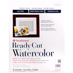"""Strathmore Ready Cut Watercolor Paper 140 lb Cold Pressed 11x14"""" Pack of 6"""